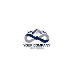 infinity home construction logo design vector image