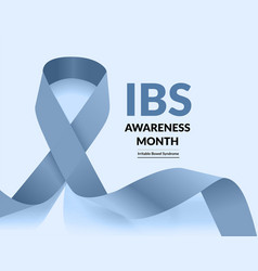 irritable bowel syndrome ibs awareness month vector image