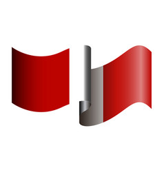 Isolated peruvian flag vector