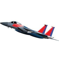 Jet fighter plane vector