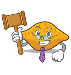 Judge conchiglie pasta mascot cartoon vector