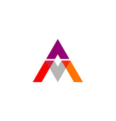letter a shape colored business logo vector image