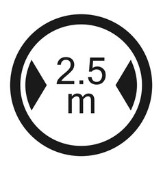 limiting width sign line icon vector image