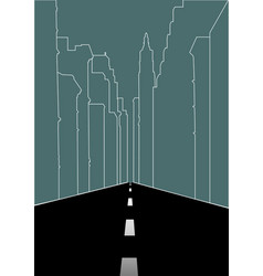 line art of city street vector image