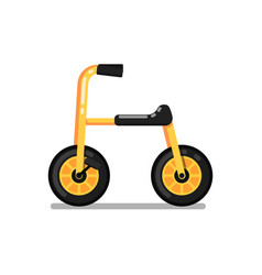 little kids tricycle isolated icon vector image