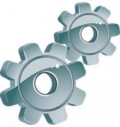 machine cogs vector image