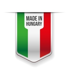 made in hungary flag ribbon vector image