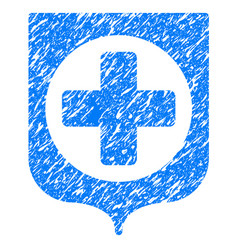 Medical shield grunge icon vector