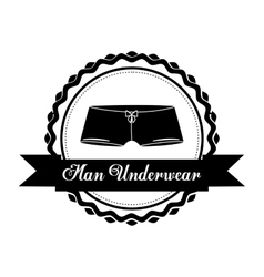 men underwear design vector image