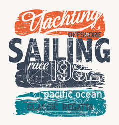 pacific ocean offshore yacht racing regatta vector image