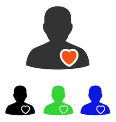 Patient heart flat icon vector