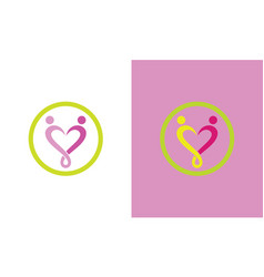 people love care logo vector image