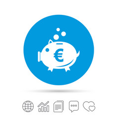 Piggy bank sign icon moneybox symbol vector