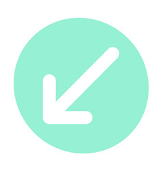 Pointer arrow in modern flat style arrow button vector