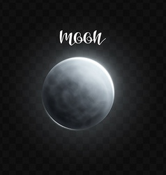 realistic glowing moon planet isolated glow vector image