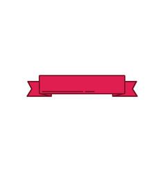 red ribbon banner ornament decoration design vector image