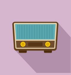 retro vintage radio icon flat style vector image