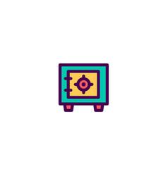 safe box icon design e-commerce icon design vector image
