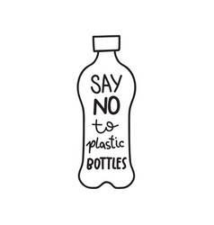 Say no to plastic vector