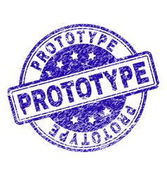 Scratched textured prototype stamp seal vector