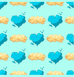 seamles pattern with cartoon cloud and star vector image