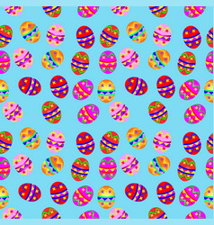 Seamless background with easter eggs vector