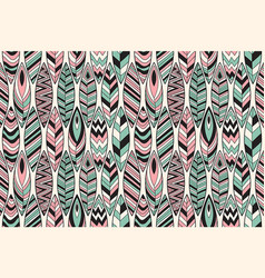 seamless pattern with feathers vector image