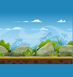Seamless tropical beach landscape for ui game vector