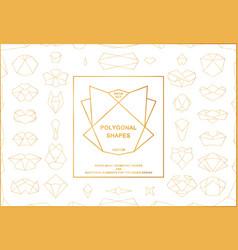 set of golden polygonal frames vector image