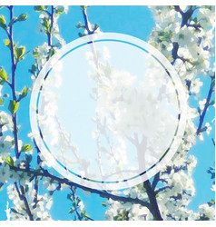 spring banner with apple flowers vector image