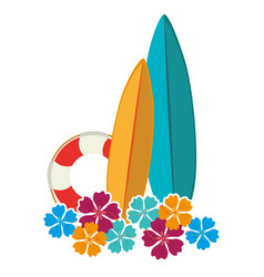 Surfboard sport summer icon vector