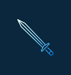 Sword modern colored icon in outline style vector
