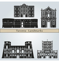 Tarento landmarks and monuments vector