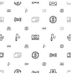 Transfer icons pattern seamless white background vector