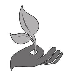 Tree plant silhouette icon vector