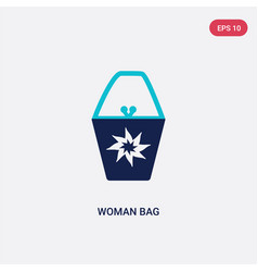 two color woman bag icon from fashion concept vector image