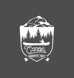 Vintage canoeing logo vector