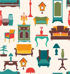 vintage retro home living vector image