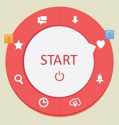 Web circle menus 2 vector
