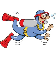 Cartoon Scuba Diver vector image vector image