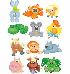 horoscope animals vector image