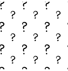 The question mark hand drawn seamless pattern vector image