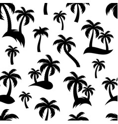 black palm trees seamless pattern vector image vector image
