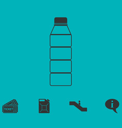 bottle icon flat vector image vector image