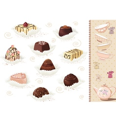 Chocolate sweets vector image vector image