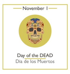 Day of Dead vector image