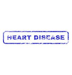 Heart disease rubber stamp vector