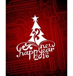 Hi-tech greeting new year card vector image vector image