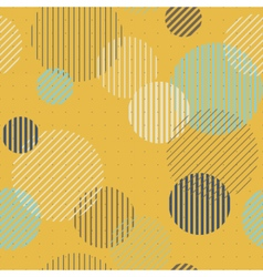 Lines and circles seamless pattern vector image vector image
