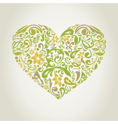 Plant heart2 vector image vector image